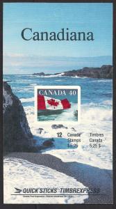 CANADA SC# 1193a VF MNH 1987 COMP BKLT