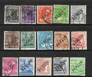 BERLIN  1948  PART SET 15  FU  SG B1/B16   ....