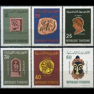 TUNISIA 1967 - Scott# 486-91 History Set of 6 LH