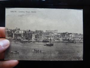 Malta Ships PPC unsent 1916 (34bet)