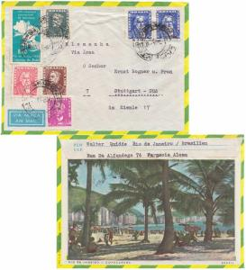 Brazil 1Cr and 2Cr Duke of Caxias, 5Cr Barbosa, 8Cr Leprology Congress, and 2...