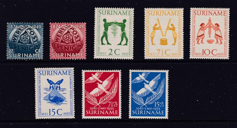 Suriname a small mint lot from about 1950's