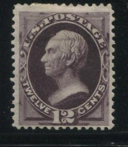 1874 US Stamp #162 12c Mint Original Gum Hinged Catalogue Value $2200 Certified
