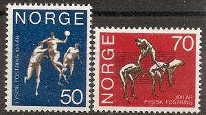 Norway  566-67 MNH 1970 Gymnastics School, Oslo Cent.