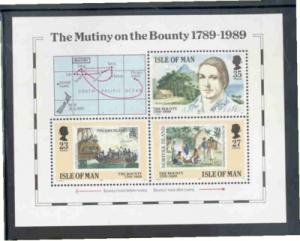 Isle of Man Sc 394 1989 Bounty Mutiny stamp sheet mint NH