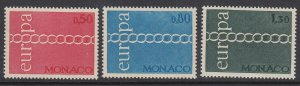 Monaco 797-9 Europa mnh