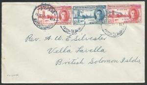 SOLOMON IS 1946 cover MUNDA cds to Vella Lavella...........................11430