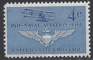 #1185 4c 50th Anniv. Naval Aviation 1961 Mint NH