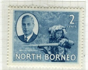 NORTH BORNEO; 1950 early GVI issue fine Mint hinged 2c. value