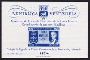 Venezuela Engineering College Centenary MS SG#MS1701 SC#801a