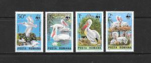 WWF - ROMANIA BIRDS #3232-3235  MNH