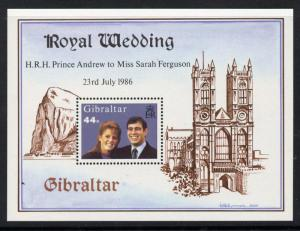 Gibraltar 498 MNH Prince Andrew, Sarah Ferguson Wedding, Westminster Cathedral