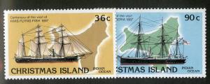CHRISTMAS ISLAND 194-195 MH SCV $2.90 BIN 1.25 SHIPS