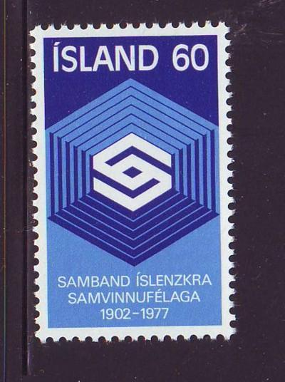 Iceland Sc 501 1977 Cooperative Society stamp mint NH