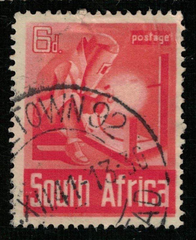 1941, War Effort, South Africa, 6d (RT-213)