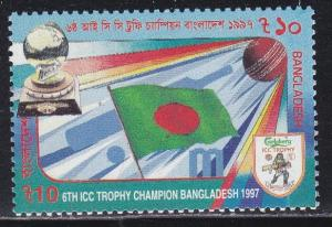 Bangladesh # 549, Cricket Trophy - Flag, NH, 1/2 Cat.
