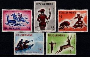 San Marino 1961 Hunting. Historical Scenes, Part Set [Unused]
