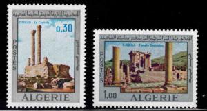 ALGERIA Scott 418-419 MNH** Timgad ancient ruins set