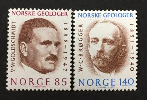 Norway 1974  #640,642, Geologists, MNH & MH/Unused(see note).