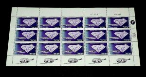 1968, ISRAEL #C47,  AIRMAIL, EXPORT ISSUE, 3.00, SHEET/ 15 , MNH, NICE! LQQK!