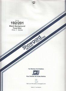 SHOWGARD 192/201 (5) BLACK MOUNTS RETAIL PRICE $13.50