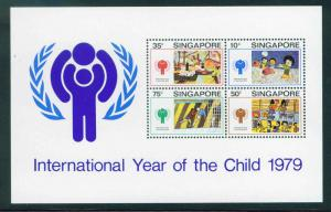 Singapore Scott 332a Year of Child Souvenir Sheet MNH**