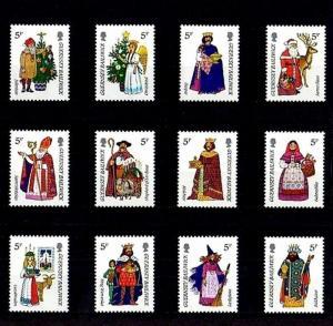 GUERNSEY - 1985 - CHRISTMAS - GIFT BEARERS - SANTA - ST NICK ++ MINT - MNH SET!