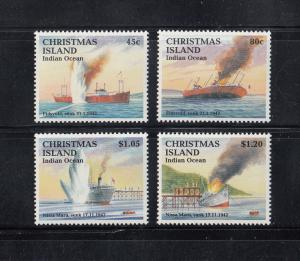 Christmas Island Scott #343-346 MNH