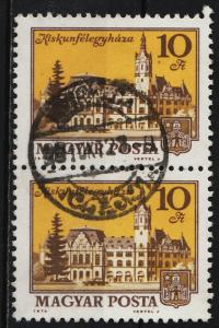 Hungary 1974/80  Buildings 10ft (1/6) Pair USED