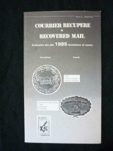 COURRIER RECUPERE RECOVERED MAIL QUOTATIONS OF COVERS 1985 by NIERINCK