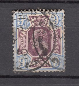 J27550 1902-11 great britain used #136 king $70.00 scv
