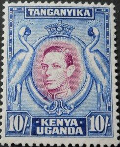 Kenya/Uganda/Tanganyika 1944 GVI 10/- SG 148b mint