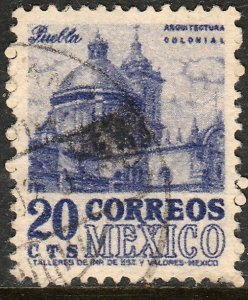 MEXICO 860, 20c 1950 Definitive wmk 279 Used F-VF. (289)