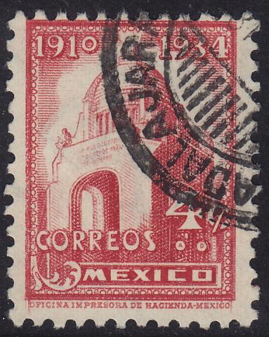 Mexico - 1934 - Scott #709 - used - Arch of the Revolution