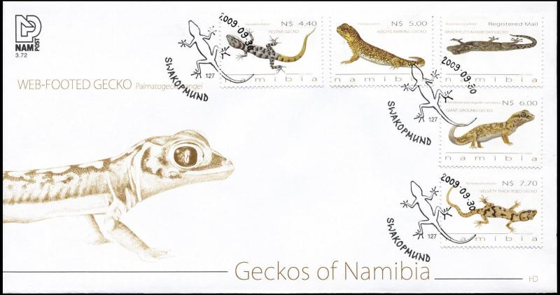 Namibia. 2009. Gekkos of Namibia (Mint) First Day Cover