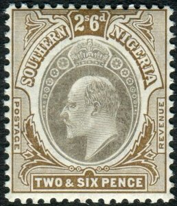 SOUTHERN NIGERIA-1906 286 Grey-Black & Brown (chalk surfaced paper) HEAD DIE A