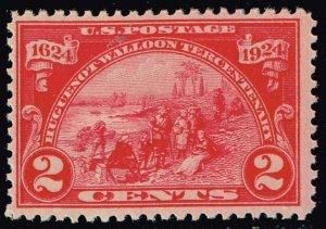 US STAMP #615 1924 Huguenot-Walloon Issue 2¢ Landing at Fort Orange MH/OG