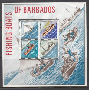 Barbados, 386a, MNH, 1974, Fishing Boats
