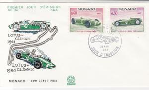 Monaco 1967  Celebrating the Grand Prix Lotus Picture FDC Stamp Cover Ref 26405