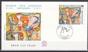 France, Scott cat. 2038. Art Work value on a First day cover. ^