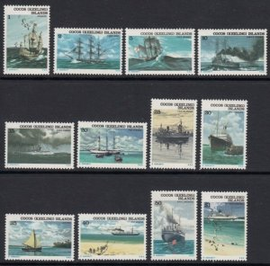 Cocos Islands 20-31 Ships mnh