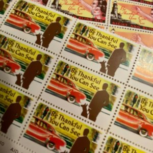 Vintage Sight and Blind Aid charity stamps seals cinderellas