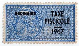 (I.B) France Revenue : Taxe Piscicole (1967) Fish Tax