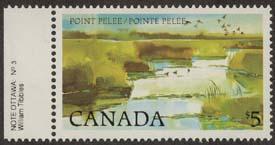 Canada - 1985 $5 Point Pelee Harrison Paper VF-NH #937ii