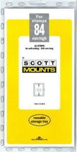 Prinz Scott Stamp Mount 84/240 BLACK Background Pack of 10