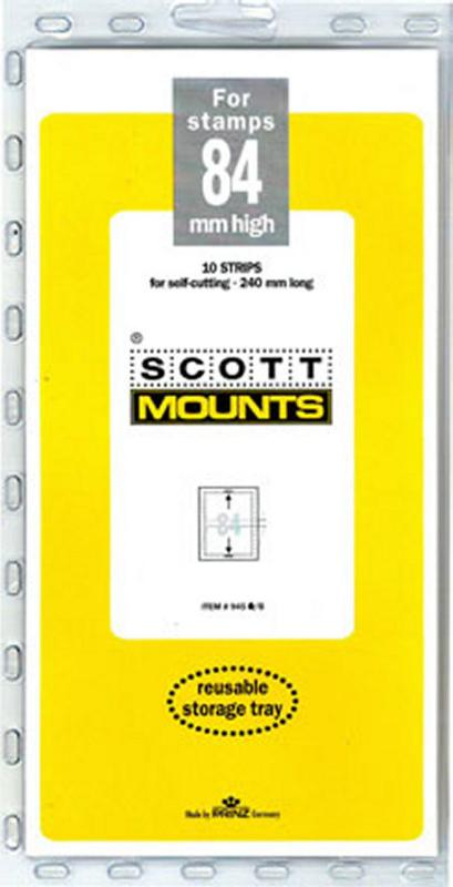 Prinz Scott Stamp Mount 84/240 BLACK Background Pack of 10