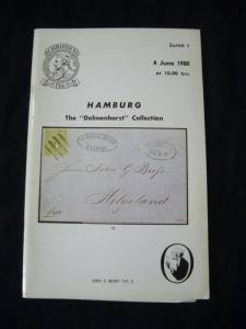 ROBSON LOWE AUCTION CATALOGUE 1980 HAMBURG 'DELMHORST'
