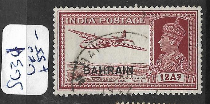 BAHRAIN (P0902B) KGVI ON INDIA 12A AIRPLANE   SG 32  VFU