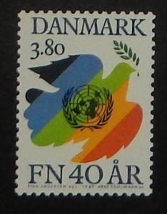 Denmark 784. 1985 UN Anniversary, NH