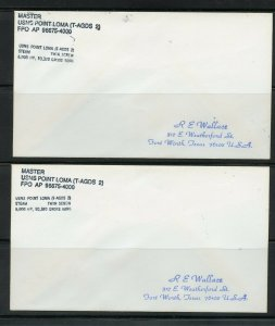 US USNS POINT LOMA (T-AGDS-2) WHOLESALE LOT 4 COVERS W/DUPLICATION AS SHOWN (30)